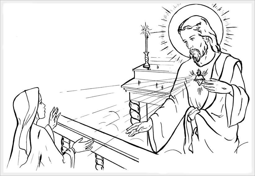 1000 images about ccd coloring sheets on pinterest for Sacred heart of jesus coloring page