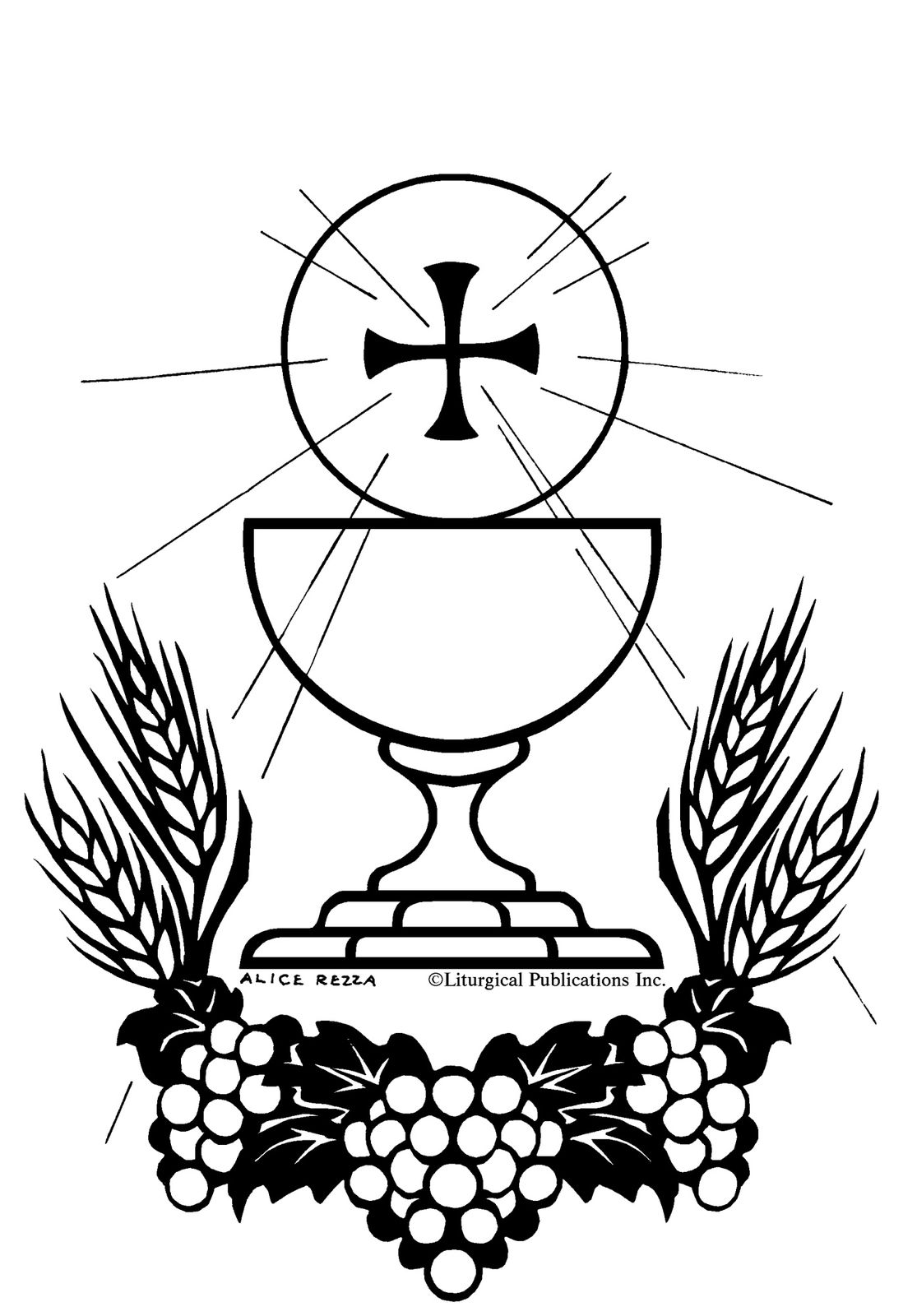 Sacraments Coloring Pages Communion Coloring Pages